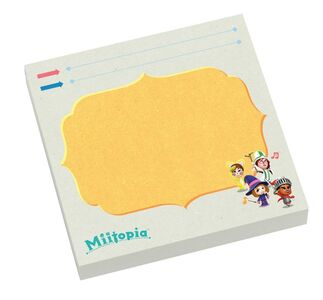 <strong>Pre-order </strong>now to get the Miitopia Sticky Notes!