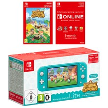Nintendo Switch Lite-Turquoise + Animal Crossing +