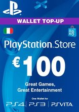 Sony PlayStation Wallet Top Up 100 Euro