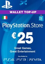 Sony PlayStation Wallet Top Up 25 Euro