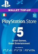 Sony PlayStation Wallet Top Up 5 Euro