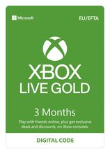 Image of Xbox LIVE 3 Months Gold Membership Prepaid Code