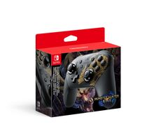 Switch Pro Controller-Monster Hunter Rise Edition
