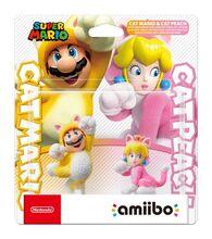 Amiibo Cat Mario and Cat Peach