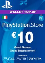 Sony PlayStation Wallet Top Up 10 Euro