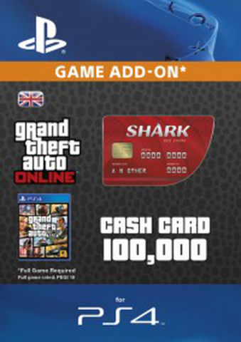 Image of GTA - Red Shark Cash Card $100.000