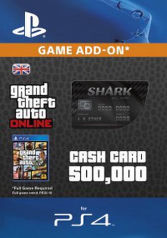 Image of GTA - Bull Shark Cash Card $500.000