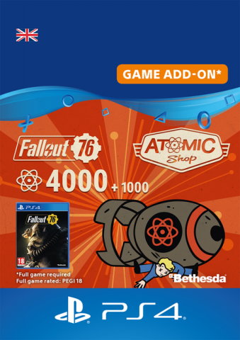 Fallout 76 4000 +1000 Atoms Download