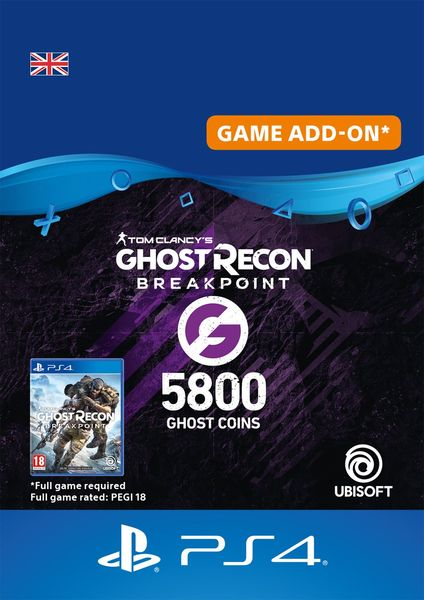Ghost Recon Breakpoint 4800 + 1000 Ghost Coins