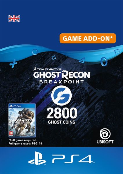Ghost Recon Breakpoint 2400 + 400 Ghost Coins