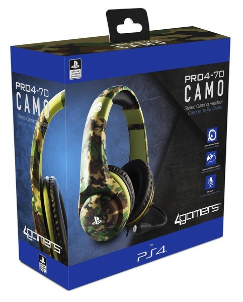 PS4 PRO4-70 Camo Edition Stereo Gaming Headset